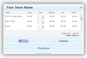 TaxCloud.js Cart UI