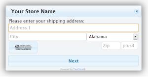 TaxCloud.js Address Entry UI
