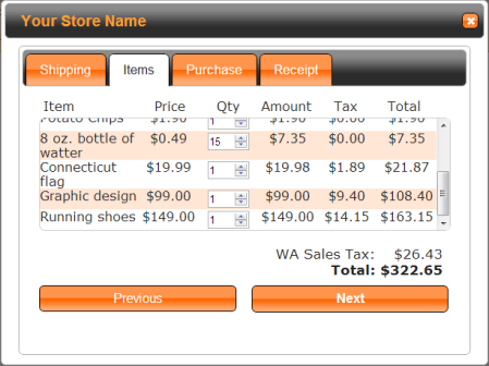 TaxCloud Cart Items for Simplify Commerce