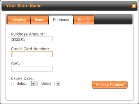 TaxCloud Credit Card Entry for Simplify Commerce